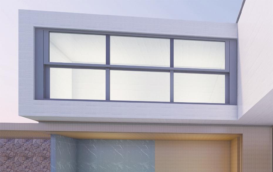 单面电动升降阳台窗